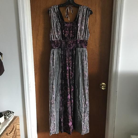 Free People Dresses & Skirts - Free People Mixed Pattern Boho Dress